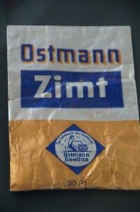 Tüte Zimt von Ostmann Gewürze