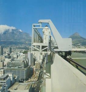 Ein Fassadenlift von HIRO in Südafrika