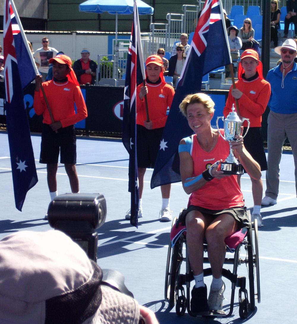 Siegerehrung Australian Open 2014