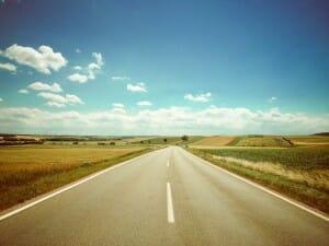 Lange Straße vor uns