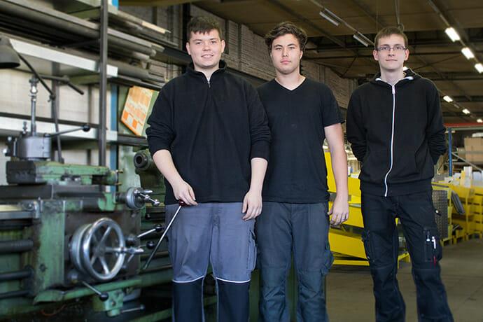 Die neuen Auszubildenden Konstruktionsmechaniker