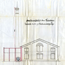 Antrag zur Inbetriebnahme des Dampfkessels von 1898