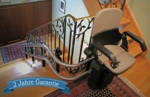 2 Jahre Garantie auf Treppenlifte