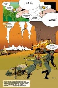 Eine Seite der Graphic Novel Grossväterland