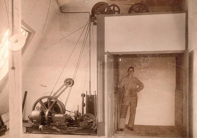 Aufzugsanlage von 1910