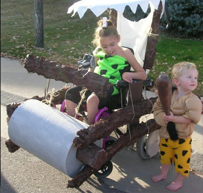 Flintstones Karneval Kostüm für Rollstuhlfahrer