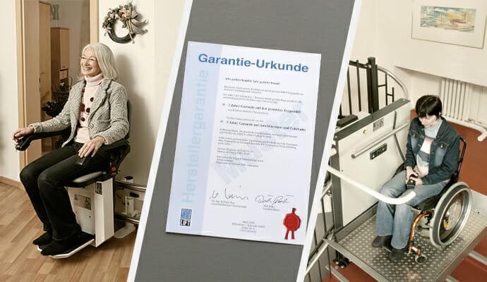 Garantie-Urkunde für Treppenlift