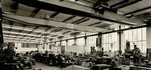 Laufkrane in der Produktionshalle von Hillenkötter & Ronsieck