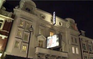 Das Apollo Theater bei Nacht