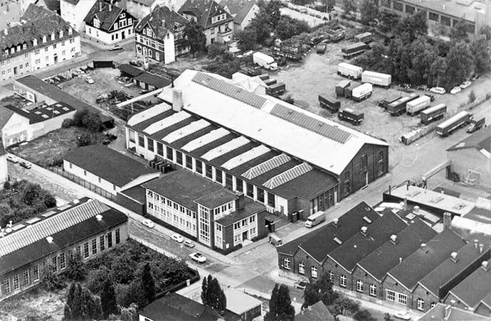 Luftaufnahme des Firmengeländes von Hillenkötter & Ronsieck ca. 1959