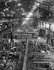 Fabrikhalle von Hillenkötter & Ronsieck in den 50er Jahren