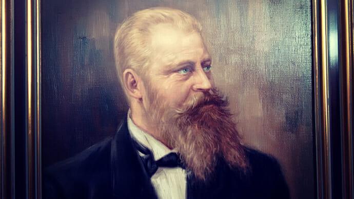 Gemaltes Portrait von Fritz Vogt