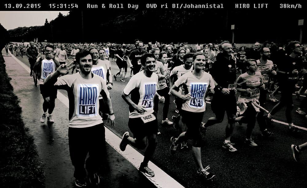 HIRO LIFT auf dem Run & Roll Day