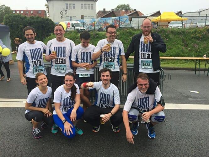 Teamfoto nach dem Lauf