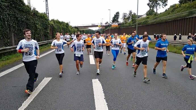 Teambild während des Laufs