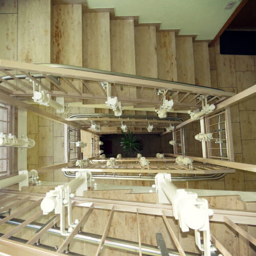 Sonderbefestigung der Fahrbahn an der Treppenwange