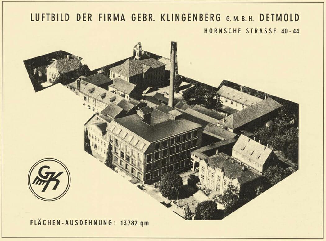 Luftbild der Firma Gebr. Klingenberg