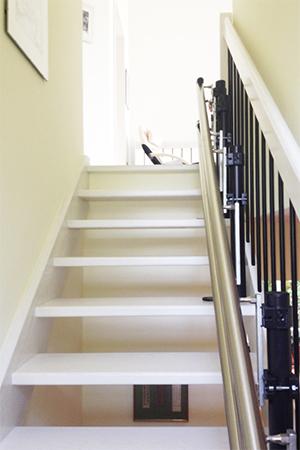 Fahrbahn auf einer Treppe