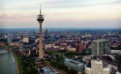 Panorama der Stadt Düsseldorf