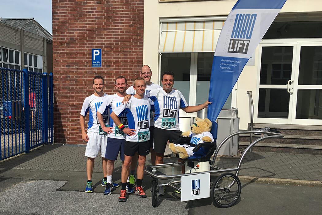Das HIRO LIFT-Team vom run and roll day