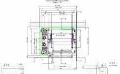 Konstruktionszeichnung vom kleinsten Aufzug