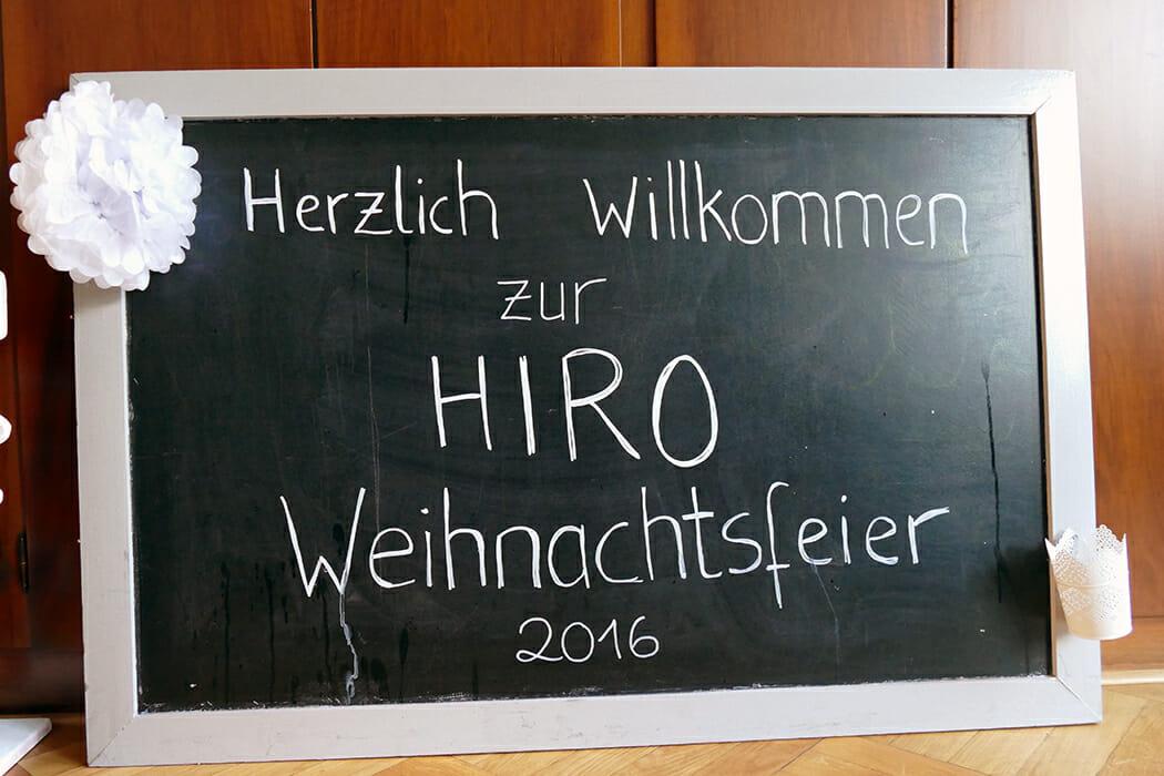 Begrüßung zur HIRO LIFT-Weihnachtsfeier 2016