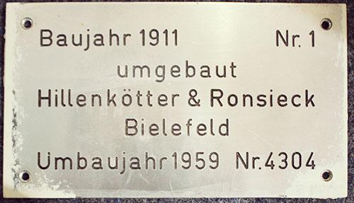 Personenaufzug Nr. 1 von 1911