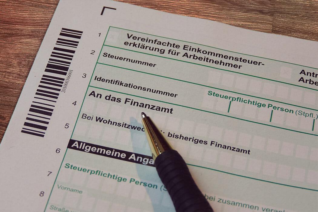 Der Treppenlift auf der Steuererklärung