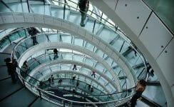Treppe ohne Treppenlift
