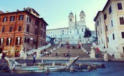 Touristenmagnet: Die Spanische Treppe in Rom